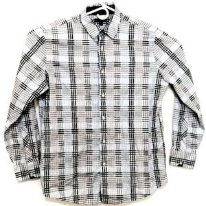 Men's Long Sleeve Button Up Shirt Lux Style (L)
